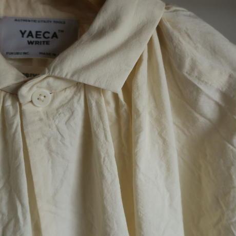 YAECA WRITE WOMEN ギャザーブラウス NATURAL 91111