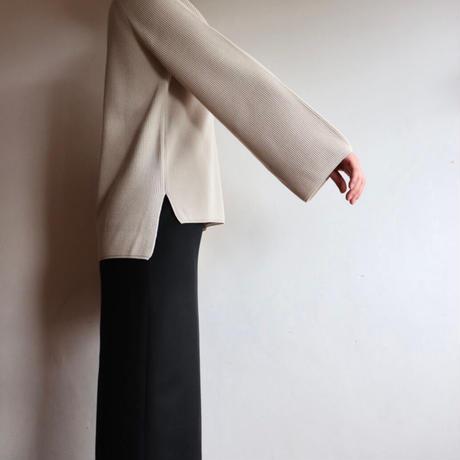 BATONER WOMEN EXTRA HARD TWIST WOOL KEY NECK BN-21FL-011BK 2colors
