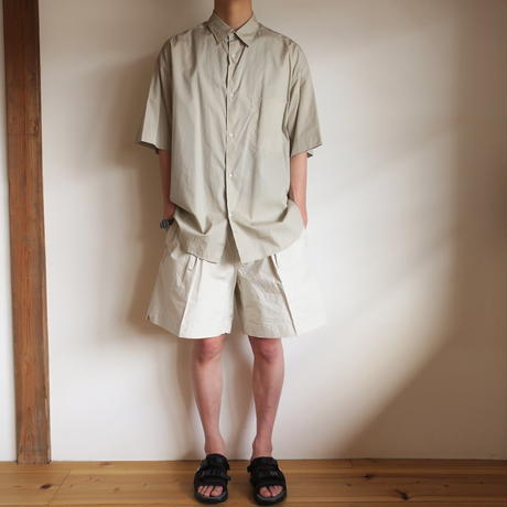 Graphpaper MEN Broad S/S Oversized Regular Collar Shirt 3colors