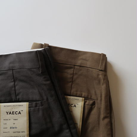 YAECA MEN CHINO CLOTH PANTS ワイドテーパード 2colors 10643