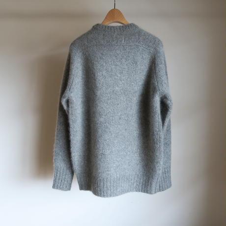 walenode Roving Yak Shetland Sweater Mixed grey