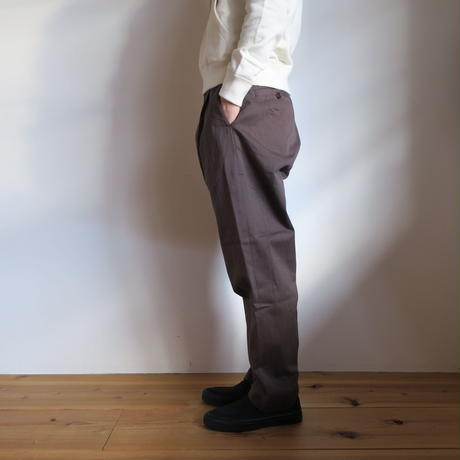 YAECA WOMEN CHINO CLOTH PANTS タックテーパード 3colors 60652