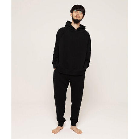 "NOWHAW ""WOK"" sweat pants BLACK"