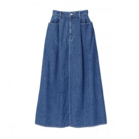 Graphpaper WOMEN Denim Skirt FADE INDIGO GL213-40167B