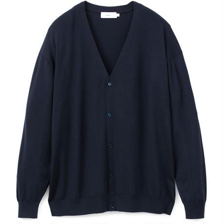 Graphpaper MEN High Gauge Knit Cardigan NAVY GU193-80082B