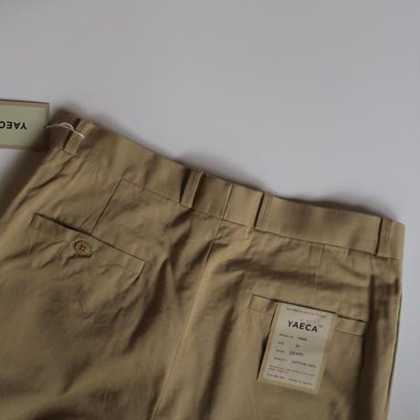 YAECA MEN CHINO CLOTH PANTS タックテーパード 10655 3colors