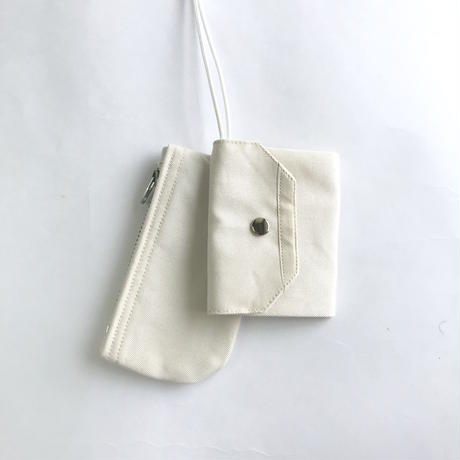 "Be prepared ""By your side 2"" Key case off white"
