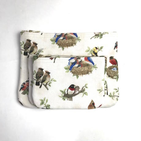 "Be prepared ""old memories"" pouch Size M  Beaitiful Birds  ""A"""