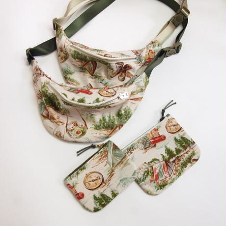 "Be prepared  ""old memories""  Waist Bag  BSA beige"