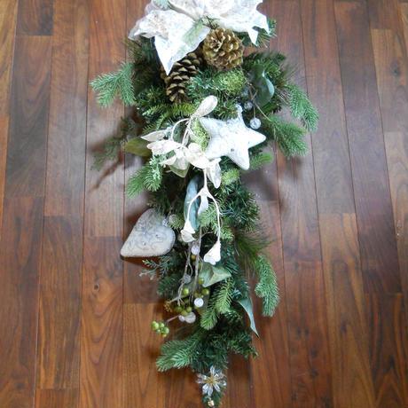 クリスマス飾り スワッグ 縦型
