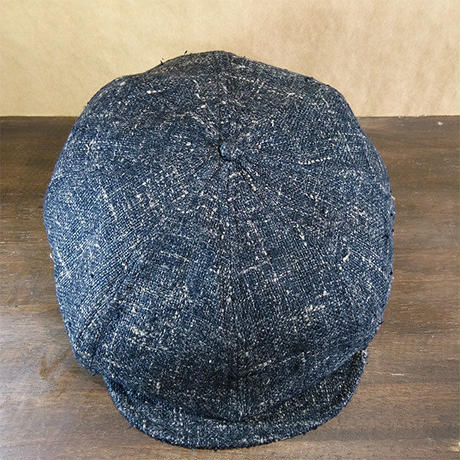 Vtg Black Newsboy Cap