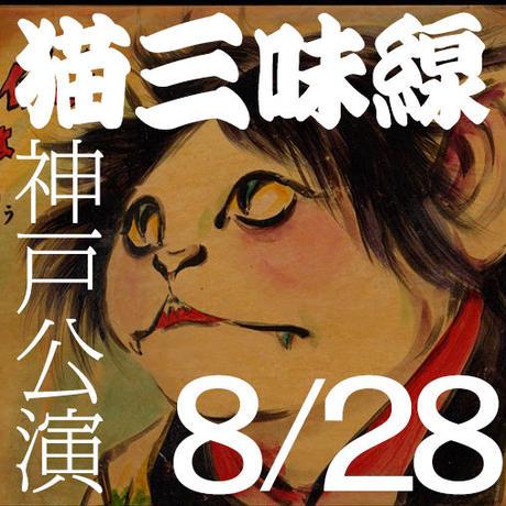 【紙チケット】2019年8月28日「坂本頼光 紙芝居『猫三味線』全巻通し上演」神戸公演 前売券