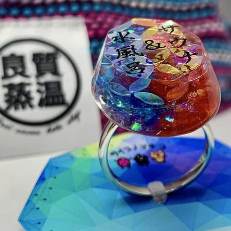 サウナ&水風呂 リング チャーミング 指輪 寒色 暖色のコントラスト ハンドメイド