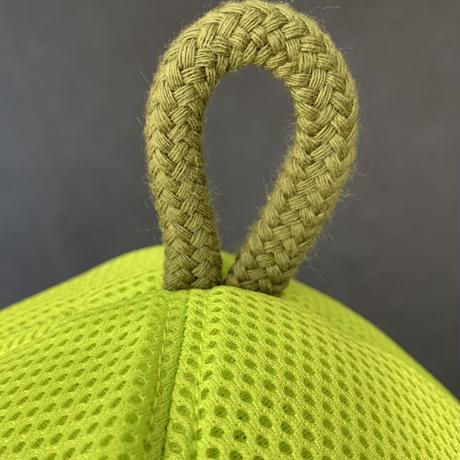 黄緑 3層構造 ポリエステル・メッシュ素材 特大サイズ! サウナハット ハンドメイド オリジナル商品 男女兼用 ゆったり