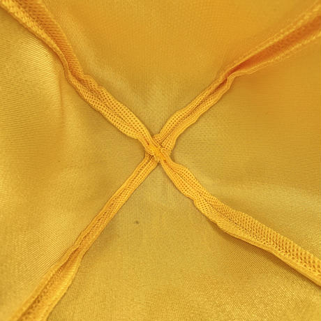 Mサイズ イエロー ✅3層構造 ポリエステル・メッシュ素材 特大サイズ! サウナハット ハンドメイド オリジナル商品 男女兼用 ゆったり
