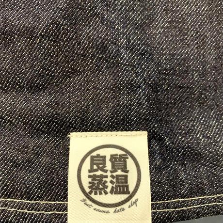 リバーシブル デニム素材 綿 大サイズ! フック2つ付 サウナハット ハンドメイド オリジナル商品 男女兼用 ゆったり