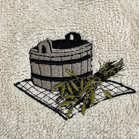 ヴィヒタ刺繍 カプチーノ色 サウナを愛でたい カプチーノ 送料 無料 サウナ ハット 新品 タオル地 コットン 洗える Sauna Hat サ道 サウナイキタイ 男女兼用