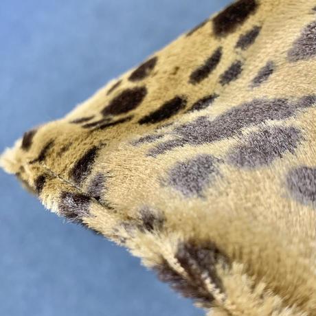 レオパード fake fur リバーシブル ツイード 織物 綿 大サイズ! フック2つ付 サウナハット ハンドメイド オリジナル商品 男女兼用 ゆったり