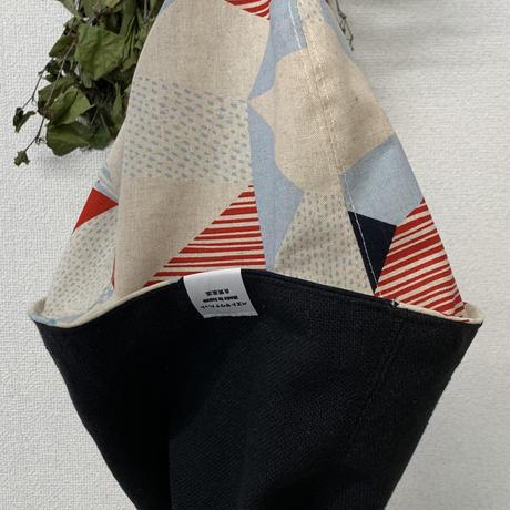 リバーシブル 織物 北欧風 綿 大サイズ! フック2つ付 サウナハット ハンドメイド オリジナル商品 男女兼用 ゆったり