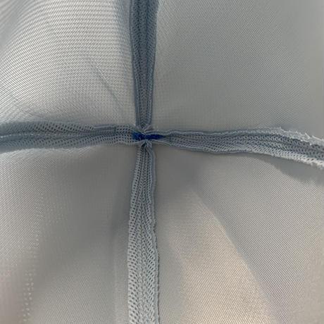 ライトブルー 3層構造 ポリエステル・メッシュ素材 特大サイズ! サウナハット ハンドメイド オリジナル商品 男女兼用 ゆったり