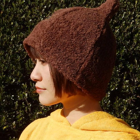 サウナを愛でたい ブラウン  サウナ ハット 新品 Namu Tekstile タオル地 コットン 洗える Sauna Hat サ道 サウナイキタイ 男女兼用