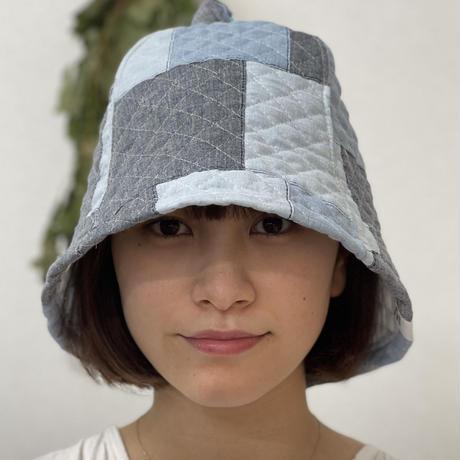 織物 綿 大サイズ! パッチワーク サウナハット ハンドメイド オリジナル商品 男女兼用 ゆったり
