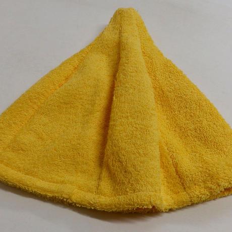 ヴィヒタ刺繍 イエロー色 サウナを愛でたい 黄色 送料 無料 サウナ ハット 新品 タオル地 コットン 洗える Sauna Hat サ道 サウナイキタイ 男女兼用