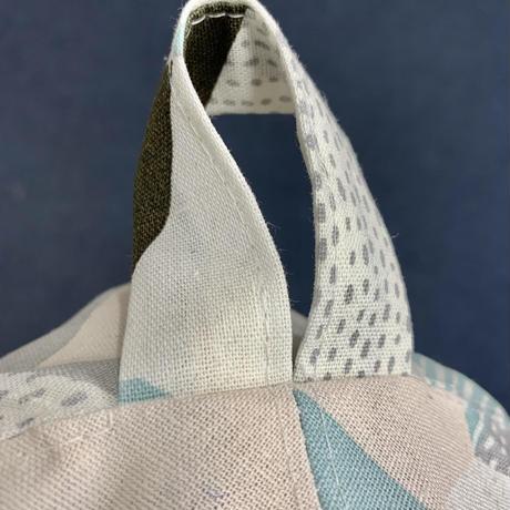 リバーシブル 織物 北欧ひんやり 綿 大サイズ! フック2つ付 サウナハット ハンドメイド オリジナル商品 男女兼用 ゆったり