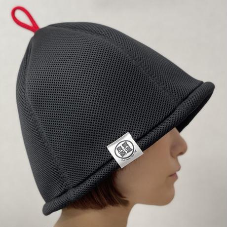 S サイズ ブラック ✅3層構造 ポリエステル・メッシュ素材 サウナハット ハンドメイド オリジナル商品 男女兼用 ゆったり