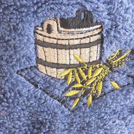 サウナを愛でたい 青色 送料 無料 サウナ ハット 新品 タオル地 コットン 洗える Sauna Hat サ道 サウナイキタイ 男女兼用