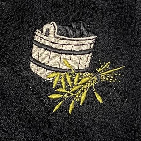 黒 イケメン蒸し男君  送料 無料 サウナ ハット 新品 タオル地 コットン 洗える Sauna Hat サ道 サウナイキタイ 男女兼用