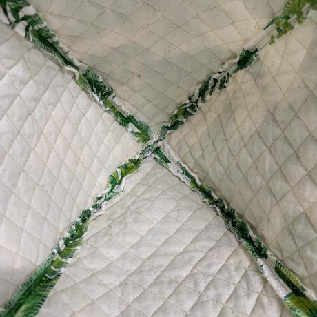 綿 大サイズ! ハワイアン 緑 サウナハット ハンドメイド オリジナル商品 男女兼用 ゆったり