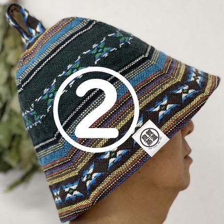 織物 綿 大サイズ! メキシカン柄 サウナハット ハンドメイド オリジナル商品 男女兼用 ゆったり