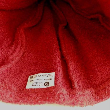 当店ロゴ入り!! 赤 サウナを愛でたい ブランド サウナ ハット 新品 Namu Tekstile タオル地 コットン 洗える Sauna Hat サ道 サウナイキタイ 男女兼用