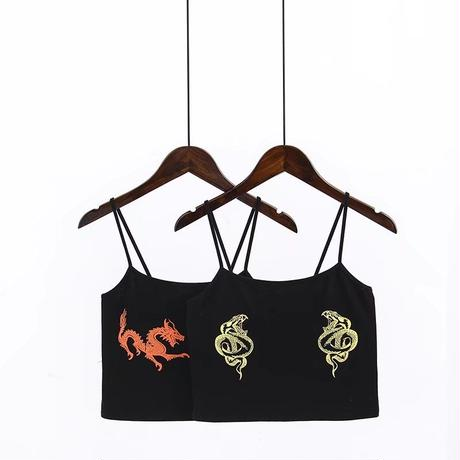 DRAGON / SNAKE CAMISOLE TOPS
