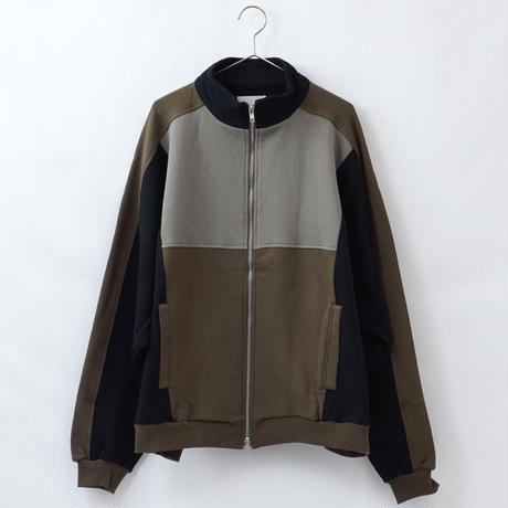 switching track jacket - BLACK