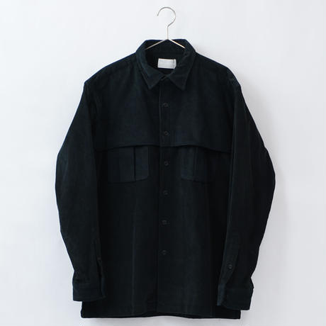 relax mackinaw shirts jacket - CORDUROY BALCK