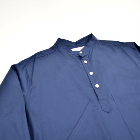 roof pocket band collar pullover shirts