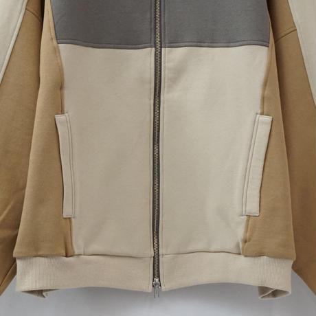 switching track jacket - BEIGE