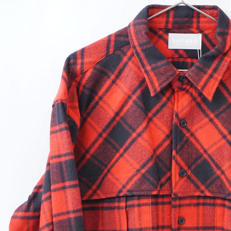 relax mackinaw shirts jacket - CHECK NEL RED
