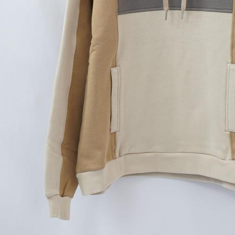 switching hoodie - BEIGE