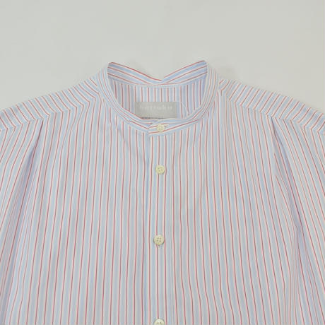 five tuck band collar shirts