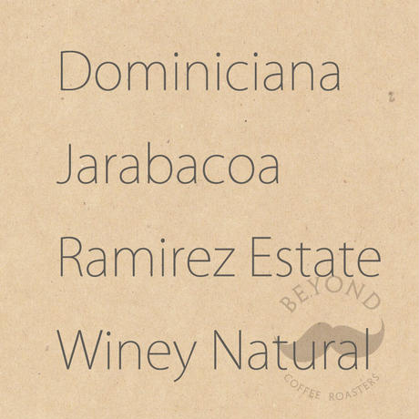 Dominicana Jarabacoa Ramirez Estate  Winey Natural process - 200g