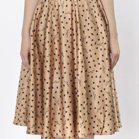 Broken Heart Pattem Skirt Camel