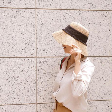 NATURAL RIBBON HAT【LH21S006】
