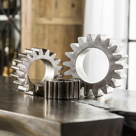 0420-18L Gears Sculpture  L