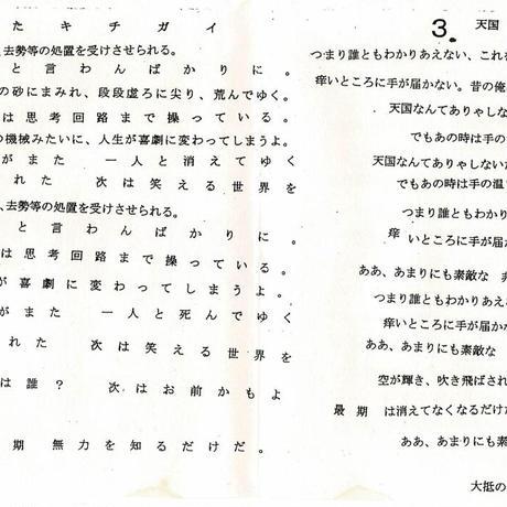 Pink The Shell 「皆が決めたキチガイ/サソリ/天国」3曲入りCDR(スタジオレコーディング音源)