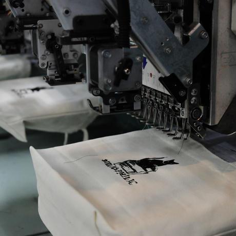 数量限定 Nukeme  ×  BIBLIOPHILIC  グリッチ刺繍キャンバストートバッグ Sサイズ