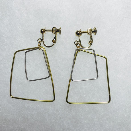 sikaku earring double L [VE-018]