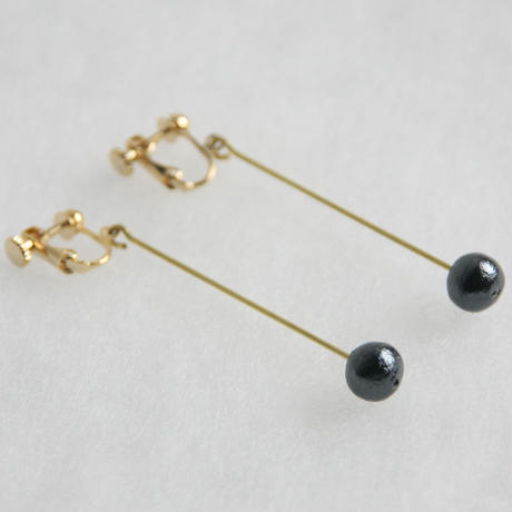 pearl earring long [VE-003b]